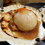 大魚 - むつ湾産 活ホタテの醤油焼き