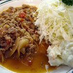 洋食エリーゼ - 「ビーフトマト定食」キャベツとポテサラ