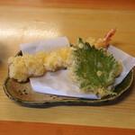 かどふく - 天ぷらざるそば の天ぷら