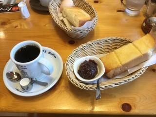 コメダ珈琲店 周南久米店 - ブレンドと小倉あんつきトースト