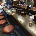 吉野家 - 吉野家 築地1号店(東京都中央区築地・築地市場1号館)店内カウンター