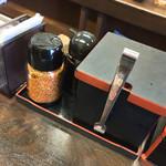 吉野家 - 吉野家 築地1号店(東京都中央区築地・築地市場1号館)卓上調味料
