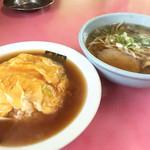 青龍 - 天津飯とラーメンのセット 880円☆