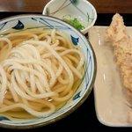 丸亀製麺 - 冷かけ&ジャンボかにかま天