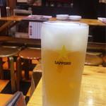 どんがらがっしゃん - ほろ酔いセット(1,000円)のドリンクは生ビールをお願いしました。