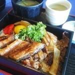 比良暮雪 - うなぎと焼き肉のお弁当