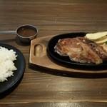 道楽かぬま ブルートステーキ - 昭和のトンテキランチ 1,180円