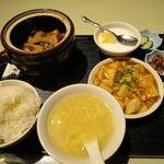 金香楼 - 豚バラ肉の特製タレ壷煮+豆腐煮込み_2016/05
