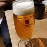 大衆割烹TAKEYA - TAKEYAの2杯めのビール。