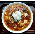 まるしん - 「マーボー麺大盛り」… 辛い上にボリューム大!(2016.04)