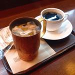 上島珈琲店 - 黒蜜ミルクコーヒー、ブレンド珈琲