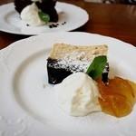 Les deux Bleue - チャイとココナッツミルクのチーズケーキ