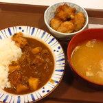 すき家 - ミニカレー¥390&からあげ¥150&とん汁¥190