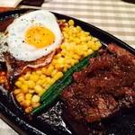 ステーキ キッチンファクトリー - ハラミとハンバーグ