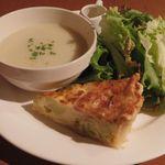ポワンタージュ - スープ&キッシュプレート
