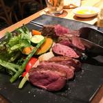 トラットリア コダマ - 熟成肉2種盛り合わせ(鴨胸+牛ロース)