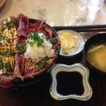 アロハオレンジ - ギャング丼(炙りとみぞれのhalf & half)