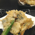 ますや - なまず天ぷら盛り