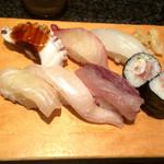 寿司・割烹 池田屋 - 池田屋定食のにぎり