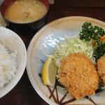 とんかつ冨貴 - クリームコロッケ定食