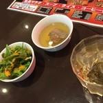 50550413 - 160502東京 肉の村山新小岩店 サラダ、スープ、ドリンク付き
