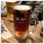 柳屋ホルモン焼 - ホッピー 黒 3冷です!