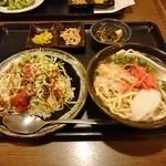ちゃんぷるぅ家 - タコライス&そばセット 831円