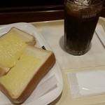 50559848 - チーズトースト250円+アイスコーヒーS220円