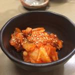 ジンギスカン楽太郎 - クーポンでいただいた白菜キムチ