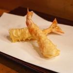 天秀 - 天ぷら定食 (海老2本)