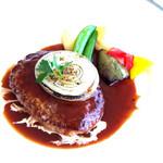 50563925 - ハンバーグステーキ 赤ワインソース