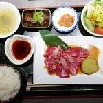 熟成焼肉 听 - 特撰カルビ定食(税込1998円)