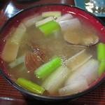 山屋 - あさり汁:500円