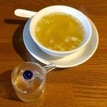 sai-蓮花 - 五目あんかけご飯にはスープが付いております。