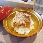 鮨 登喜和 - 桜鱒煮コゴリ 蒸し