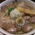 肉そば総本山神保町けいすけ - 肉そば、塩、麺大盛り