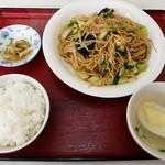 香茗苑 - A 上海焼きそばと半ライス