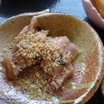 茶の里 映山紅 - ズイキの甘酢