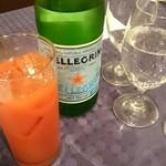 ポルポ - ブラッドオレンジジュースとサンペルグリノ