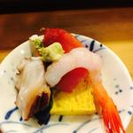 都寿司 - ランチ天丼にお刺身もついてくる!