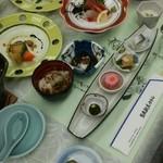 男鹿観光ホテル - 料理写真:夕食の内容です。