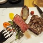 50587181 -                        「尾崎牛のグリエ 3種のソース」