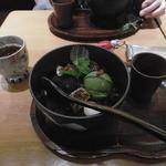 甘露七福神 - 甘露 あんみつ 食べてしまったところを隠して(笑)