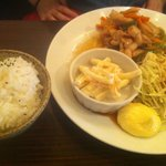76CAFE OMOTESANDO - 生姜焼き定食 1050円