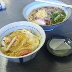 だるま食堂 - 玉子丼+そば(600円)