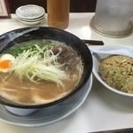 50596537 - Wスープ豚骨(750円)+チャーハンセット(250円)