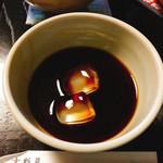 吉野葛 佐久良 - 残った黒蜜に氷を入れて氷が溶けて来たら全部飲み干してもOK