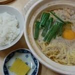 鍋焼きラーメン千秋 - 鍋焼きラーメン並&ミニごはん