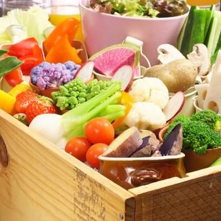 地元農家で採れた新鮮野菜をたっぷりお召し上がりください!
