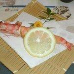 錦寿司 - 車エビの揚げ物
